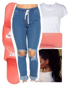 6 9 16 by tynescloset ❤ liked on Polyvore featuring RE/DONE, MICHAEL Michael Kors and NIKE