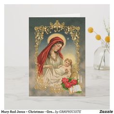 Shop Mary And Jesus ~ Christmas - Greeting Card created by GRAPHICSITE. Christmas Greeting Cards, Christmas Greetings, Christmas Jesus, Merry Christmas, Mary And Jesus, Paper Design, Photo Cards, Stationary, Card Making