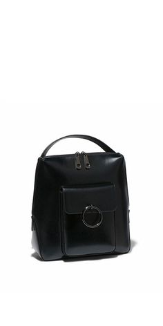 Accessories | Black Leather Backpack