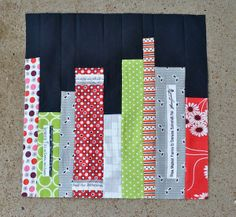 Library Books Quilt Block tutorial on Craftsy #freepattern
