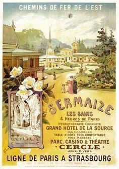 chemins de fer de l'est - Sermaize-les-Bains - Ligne de Paris à Strasbourg - illustration de L. Petit -