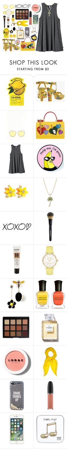"""Goodbye winter"" by skittlebum ❤ liked on Polyvore featuring Charlotte Russe, Gucci, Dolce&Gabbana, RVCA, Sydney Evan, WALL, Dermablend, NYX, Kate Spade and Deborah Lippmann"