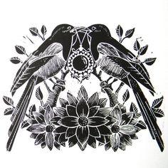 Lovebird tattoo idea