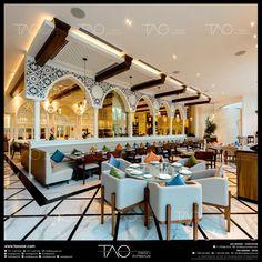 Kitchen area separator Food stand Kitchen area s Restaurant Tapas, Oriental Restaurant, Moroccan Restaurant, Restaurant Themes, Interior Design Dubai, Bar Interior, Modern Interior Design, Interior Sketch, Spa Design