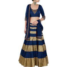 Vandvshop Buy Online Blue Designer Lehenga Choli- Online Shopping For Lehengas