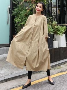 Loose A-line Long Shirt Dress – yankia Long Shirt Dress, Long Blouse, The Dress, Dress Skirt, Casual Dresses For Women, Casual Outfits, Dress Casual, Sarees For Girls, Simple Pakistani Dresses