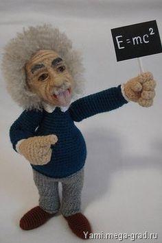 Портретная кукла Альберт Энштейн - портретная кукла. МегаГрад - online выставка-продажа авторской ручной работы