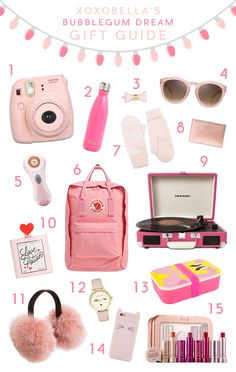 Bubblegum Dream Gift Guide The theme for this gift guide is Bubblegum Dream.all things pretty and pink! With the pretty blush pinks and coral pinks, I am converted to a pink lover! Teenage Girl Gifts, Gifts For Girls, Gifts For Him, Tween Gifts, Birthday Wishlist, Birthday List, 16th Birthday, Holiday Gift Guide, Holiday Gifts