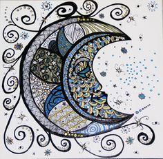 Zentangle 5: The Moon