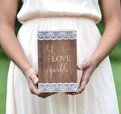 Wedding sparklers holder let love sparkle by BellaBrideCreations