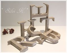 erhältlich hier: http://de.dawanda.com/product/87219395-6-tlgset-herbst-h115-cm-grau-silber HERBST, Herbst, Letter, Letters, Herbstdekoration, Handarbeit, Holz, Buchstaben,  Silvi K. ,