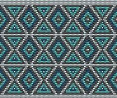 모칠라백 제작을 위한 무늬패턴 배색 자카드 연습은 기본 입니다 앙 !! ~*^.^*~ Mochila Wayúu S...