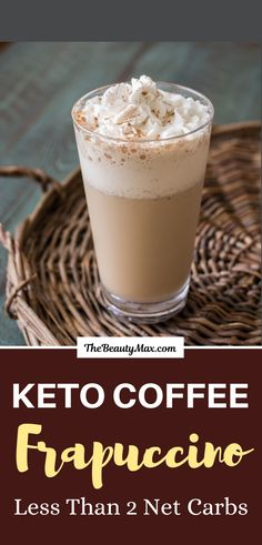 keto frappucino starbucks Starbucks Copycat Keto Coffee Frappuccino - The Best KETO Coffe You Should Try! Coffe Recipes, Keto Coffee Recipe, Starbucks Recipes, Coffee Frappuccino, Ketogenic Coffee, How To Roast Hazelnuts, Bulletproof Coffee, Pumpkin Soup, Salted Butter