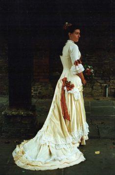 1870s style wedding dress, ninyamikhaila