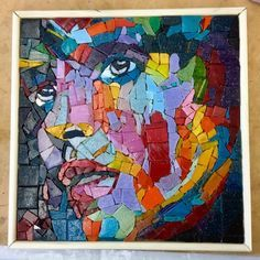 Brilliant rendition by Gabi of a painting by the equally brilliant Francoise Nielly #mosaic #hackney #FrancoiseNielly