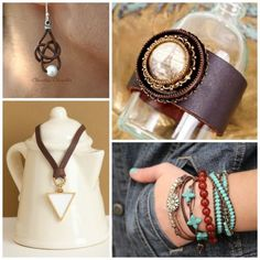 Leather is a trend that still keeps going! However, in many samples included in this post the leather isn't the focal point. The leather provides a structural integral part of the jewelry or contributes to the visual aesthetics. Here is some inspiration!This past week we have been focusing on tutorials ...