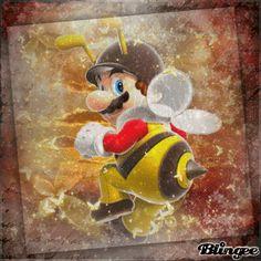 Bee Mario Blingee by Laura C Mario Fan Art, Mario And Luigi, Super Mario Bros, Cartoon Characters, Art Pieces, Animation, Bees, Cute, Artworks