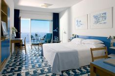 MCM Italia! Gio Ponti, Hotel Parco dei Principi, Sorrento 1962. Bedroom with sea view.