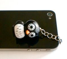 HandAssembled Custom Earphone Jack Plug Charm Owl by klaynedesigns, $8,00