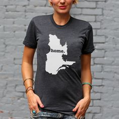 The QuebecHome T-shirt is a stylish way to show off your Canada pride, while also helping raise money for multiple sclerosis research.The Home T is 100% made in the USA, and we use a high-quality unisex t-shirt that is insanely soft. In fact, it will be one of the softest, most comfortable shirts you