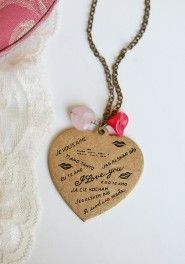 a million ways to say i love you indie necklace