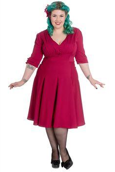 Raspberry June dress - Very cherry