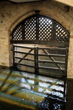 Tower of London - Traitor's Gate where all prisoners of importance entered the Tower.