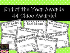Head Over Heels For Teaching: End of Year Student Awards & Freebie