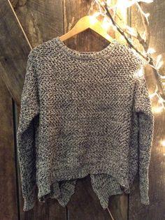 Bella Funk Boutique - Ya Los Angeles Knit Sweater with Split Back, $42.00 (http://www.bellafunkboutique.com/ya-los-angeles-knit-sweater-with-split-back/)