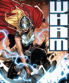 "Thor in Angela: Queen of Hel ""A Deal"" - Kim Jacinto, Colors: Israel Silva Hq Marvel, Marvel Comics Art, Captain Marvel, Female Superheroes And Villains, Female Comic Characters, Comic Books Art, Comic Art, Thor Valkyrie, Avengers"