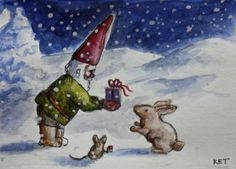 Merry Christmas, Mr. Rabbit!  JollyGnome.com