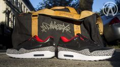 """Nike Air Max 1 """"Black Cement Laser"""" By Absolelute 
