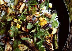 Grilled Vegetable and Rice Salad with Fish-Sauce Vinaigrette - Bon Appétit