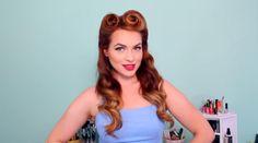 Auburn pin-up looks you can create at home via @beautyhigh,   Courtesy of Kayley Melissa
