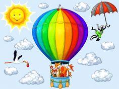 Levegőben közlekedő állatok falmatrica, Dekoráció, Baba-mama-gyerek, Gyerekszoba, Falmatrica, Meska