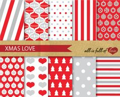 Check out Digital Scrapbooking XMAS Patterns by Allfulloflovee on Creative Market