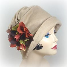 Womens Cloche Hat The Alice Camel Wool with by TheWaughdrobe, $124.50