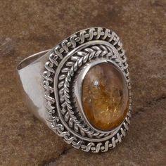 TOURMALINE 925 SOLID STERLING SILVER FASHION RING 4.87g DJR5788 #Handmade #Ring