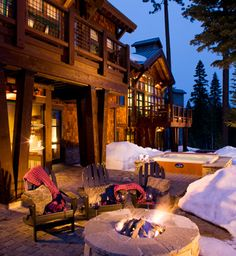 Back yard fire pit and jacuzzi  --  Trailside