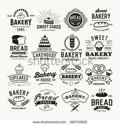 Bakery logotypes set. Retro Bakery labels, logos, badges, icons, objects and elements.