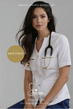 Comfortable, functional, and eminently feminine, Jaanuu scrubs redefine the medical apparel. Made from premium, eco-friendly, and antimicrobial finished Jaanacea fabric, our tops and pants keep you fresh after a long day of work. Free shipping and returns on all U.S. orders. Save 20% with WELCOME20 at checkout