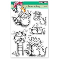 Penny Black - Clear Stamp - Hearts A Plenty