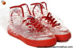 Wholesale Cheap Adidas X Jeremy Scott Wings Clear Shoes Red For Sale
