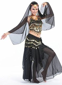 b389988cb4 Beverly Womens Hot Pepper Belly Dance Costume Set 5 Pieces black *** More  info could be found at the image url-affiliate link.