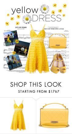🌻 Yellow Dress 🌻 by hemmo1drauhl on Polyvore featuring moda, Giambattista Valli, Chanel, Miu Miu, Sebastian Professional, Spring, yellow and lalaland