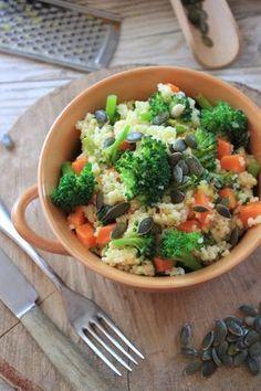 Zdrowe i pożywne danie z kaszą jaglaną i brokułem to propozycja na szybki obiad czy też lekką kolację. Kasza jaglana jest bardzo wartościowa...