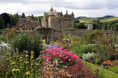 """Abbotsford, Home of Sir Walter Scott, near Melrose, Scotland.  """"Romance in stone and mortar"""" is how Sir Walter Scott described Abbotsford.  Abbotsford is the ancestral home of Sir Walter Scott, the 19th century novelist and poet of """"Waverley"""", """"Ivanhoe"""", and """"Lady of the Lake"""""""