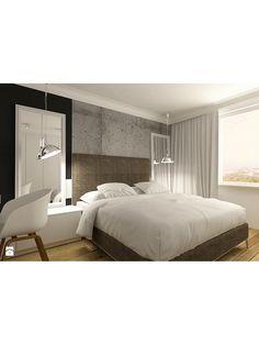 Zdjęcie: Nowoczesna sypialnia w apartamencie w Tomaszowie Mazowieckim