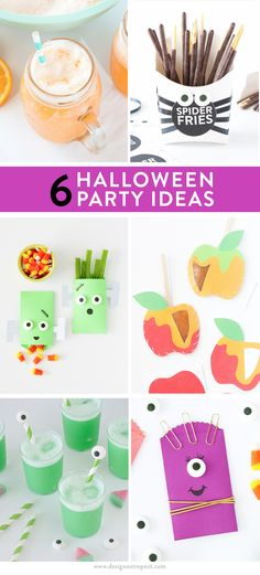 Each of these 6 #Halloween Party Ideas includes either the #recipe, tutorial, or printable so you can replicate at home. Love these!