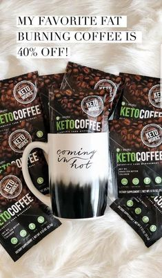 Keto Coffee powered by KetoWorks™! With Grass-Fed Butter and Medium Chain Triglycerides (MCTs), this instant keto coffee helps to increase your body's ketone production to rapidly breakdown fat, boost your energy, and sharpen your focus! Fat Coffee, Skinny Coffee, Mocha Coffee, Coffee Creamer, Coffee Mugs, It Works Marketing, It Works Distributor, Independent Distributor, It Works Global